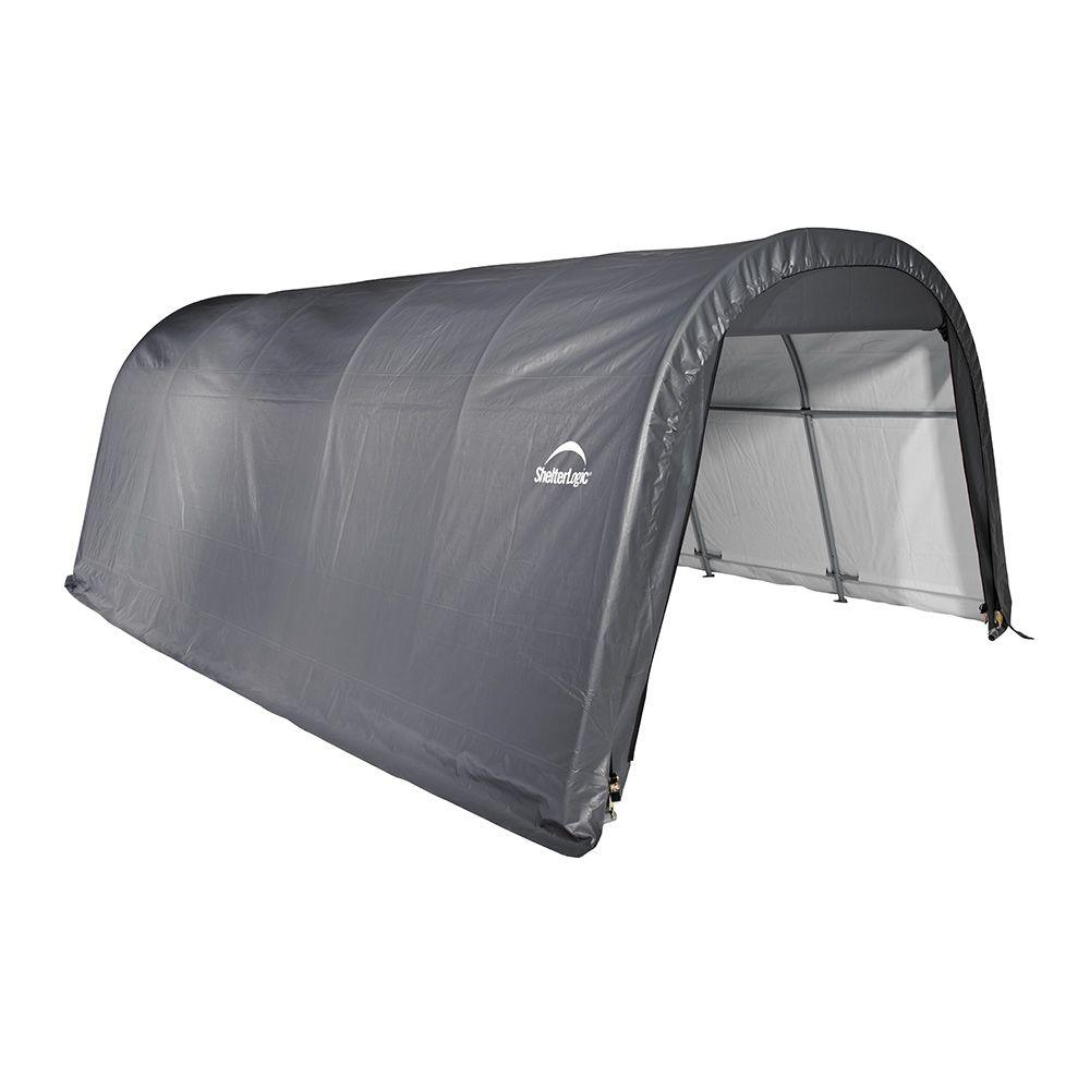ShelterLogic 12 ft. x 20 ft. x 8 ft. Round Garage in Grey