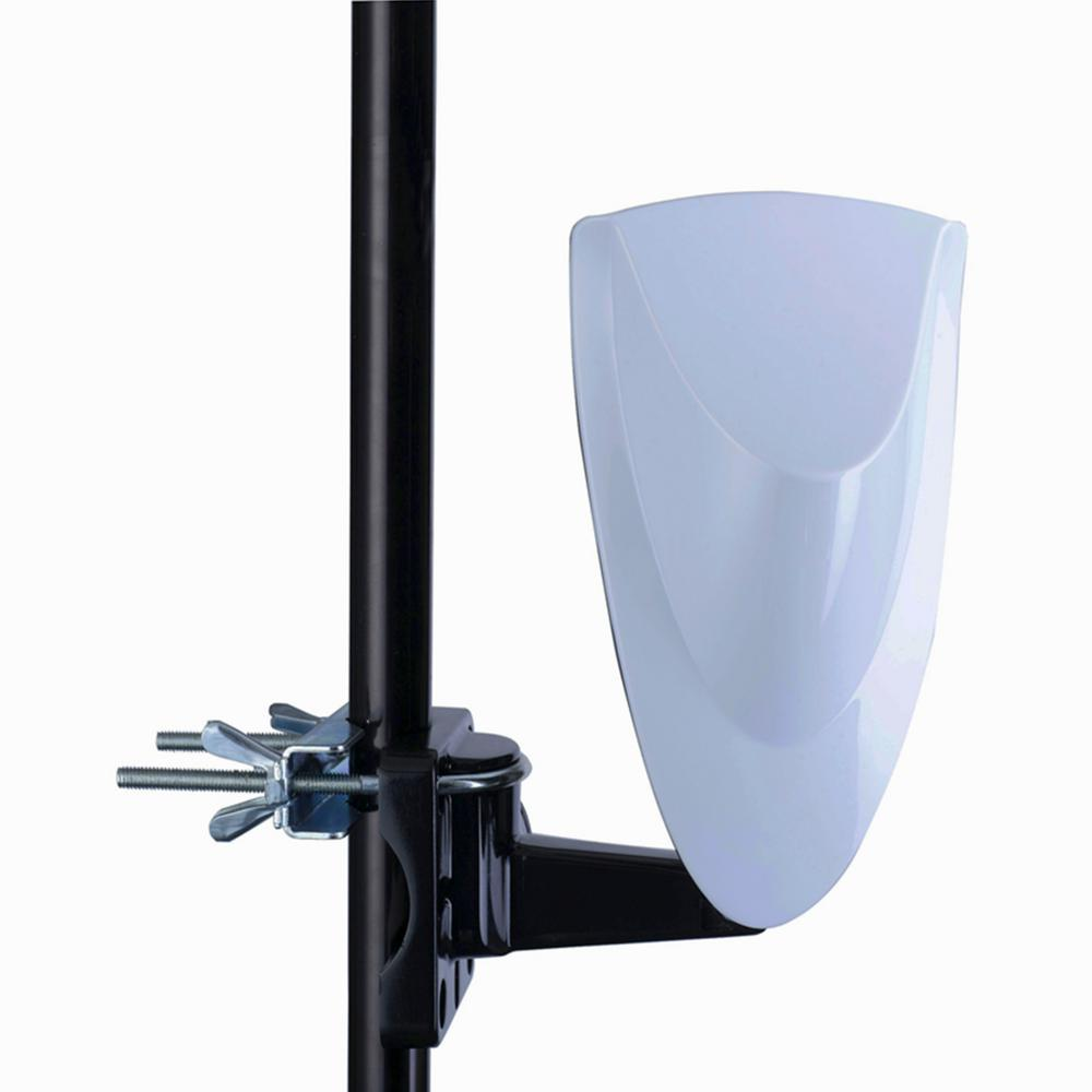 Homevision Technology Digiwave Digital Outdoor TV Antenna Digiwave ANT4009 is a special designed antenna for digital terrestrial TV broadcasting reception. It is the best solution for home reception and digital portable TV reception. The antenna is an active antenna that can be used with TV or set top box which can be powered by coaxial cable or external power adapter. Complete accessories are included for wall or pole mounting and with the anti-UV and water proof housing.