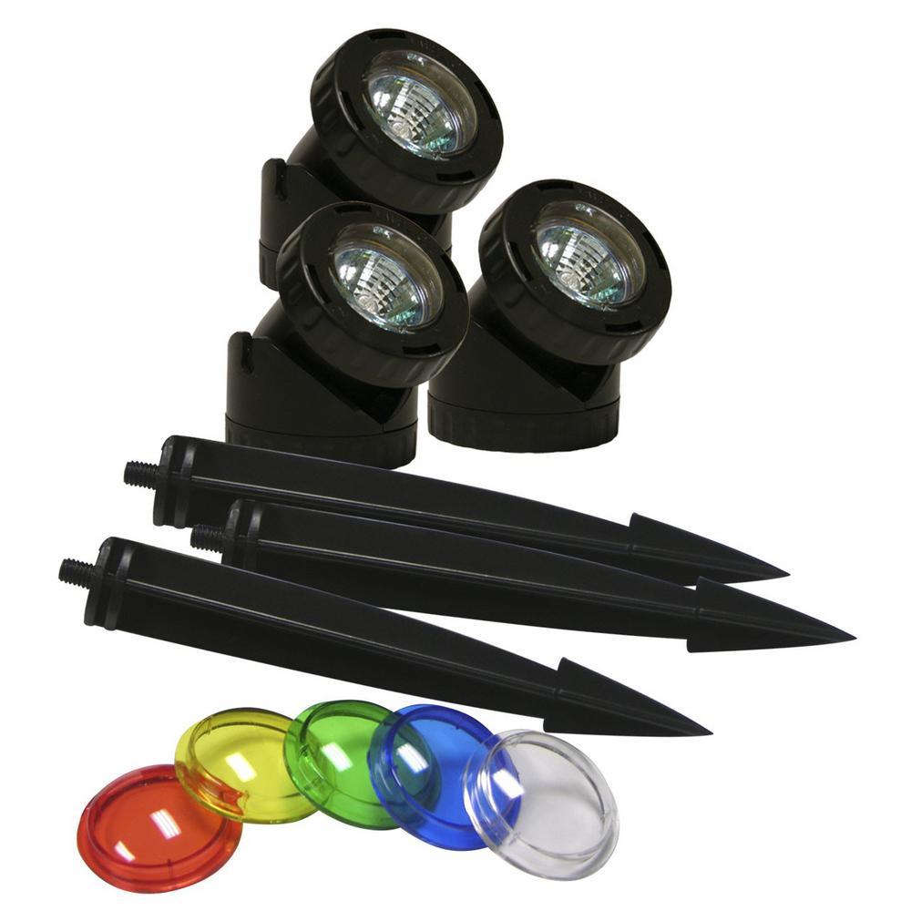 Power Beam 10-Watt Lights 23 ft. Cord with Color Lenses (Set of 3)