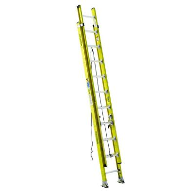 24 ft. Fiberglass Round Rung Extension Ladder with 375 lb. Load Capacity Type IAA Duty Rating
