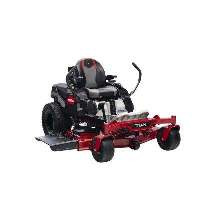 TITAN 54 in. IronForged Deck 24.5 HP Commercial V-Twin Gas Dual Hydrostatic Zero Turn Riding Mower with MyRIDE