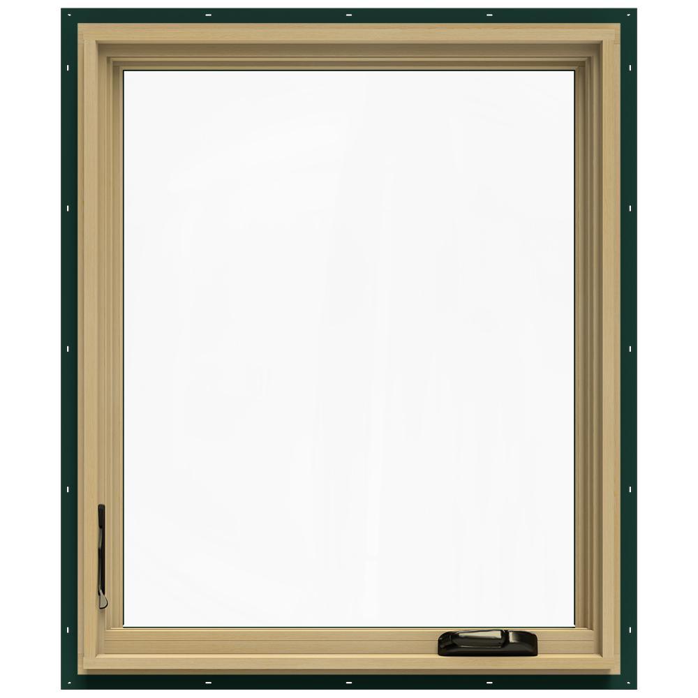 30.75 in. x 36.75 in. W-2500 Left-Hand Casement Wood Window