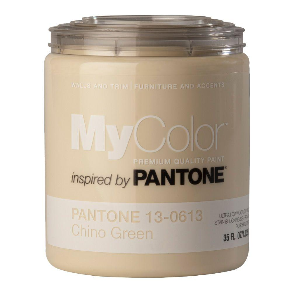 MyColor inspired by PANTONE 13-0613 Eggshell 35-oz. Chino Green Self Priming Paint-DISCONTINUED