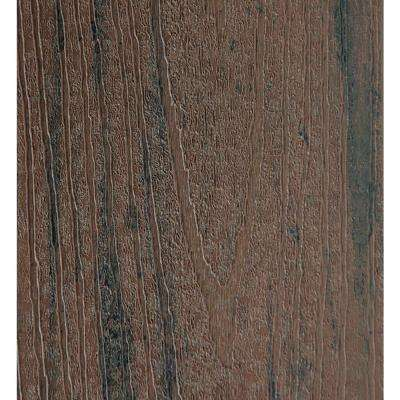 15/16 in. x 5.36 in. x 2 ft. Capped Composite Decking Board Sample in Brown Oak
