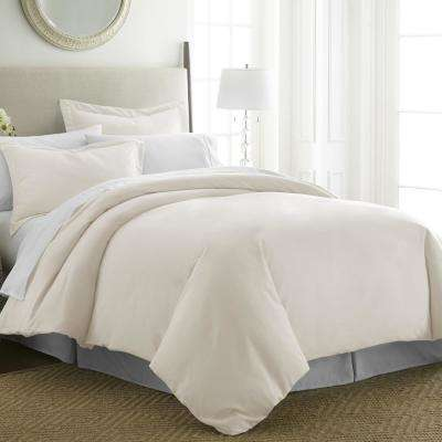 Performance Ivory Queen 3-Piece Duvet Cover Set