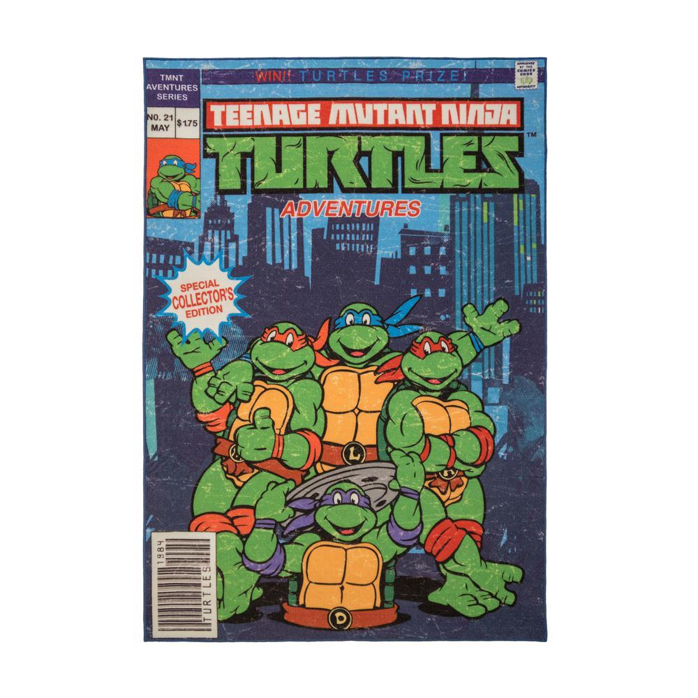 Teenage Mutant Ninja Turtles  4 ft. 6 in. x  6 ft. 6 in.  Indoor Juvenile Area Rug