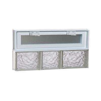21.25 in. x 11.5 in. x 3.125 in. Frameless Ice Pattern Vented Glass Block Window