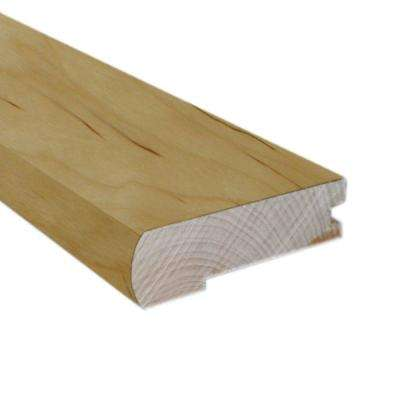 Unfinished Maple 0.81 in. Thick x 2-3/4 in. Wide x 78 in. Length Hardwood Flush-Mount Stair Nose Molding
