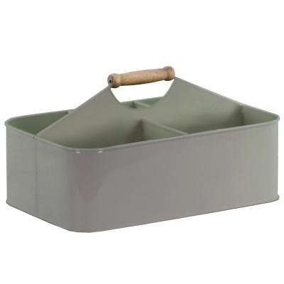 Rectangle Metal Coated Gray Decorative Basket