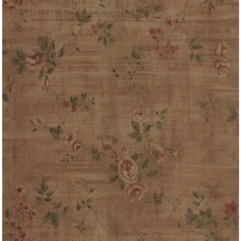 Brewster Textured Rose Wallpaper