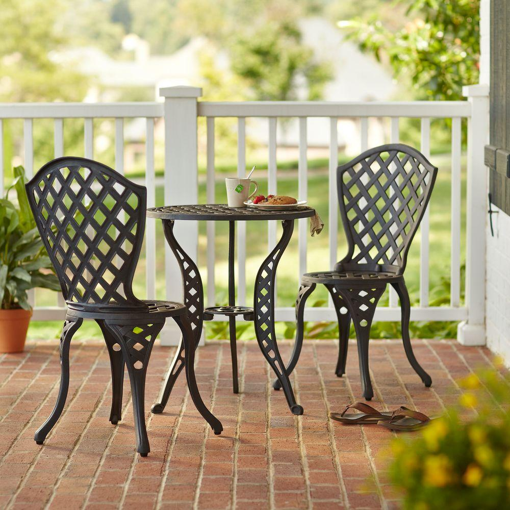 outdoor bistro set hampton bay legacy 3 patio bistro set c670 62 the 29215