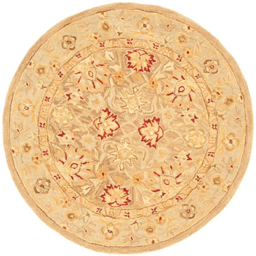 Safavieh Anatolia Tan/Ivory 4 ft. x 4 ft. Round Area Rug