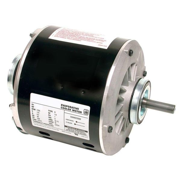 Dial 2 Speed 1 3 Hp Evaporative Cooler Motor 2202 The Home Depot