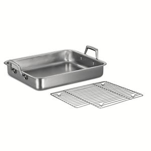 Click here to buy Tramontina Gourmet Prima 6.75 Qt. Stainless Steel Roasting Pan by Tramontina.