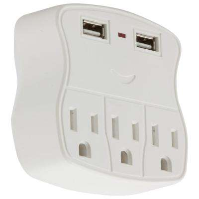 3-Outlet and 2 USB Port Charger