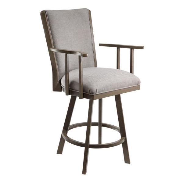 Raymore 30 in. Loft Grey Swivel Barstool