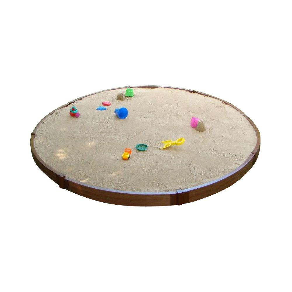 Frame It All Two Inch Series 10.5 ft. Dia x 5.5 in. x 2 in. Composite Round Sandbox Kit