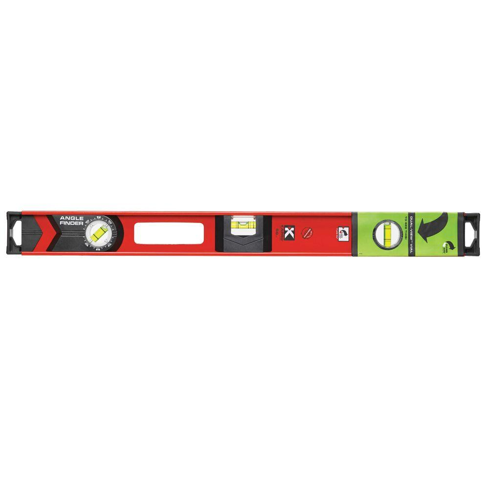 24 in. I-Beam Level with Plumb Site and Angle Finder