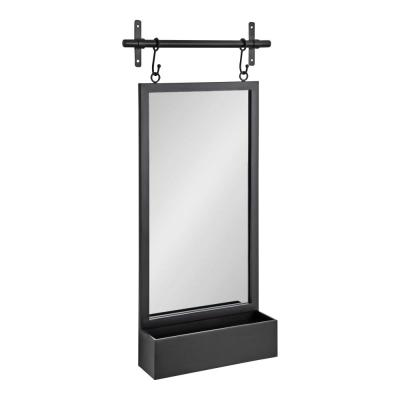Medium Rectangle Black Modern Mirror (39.37 in. H x 18.11 in. W)