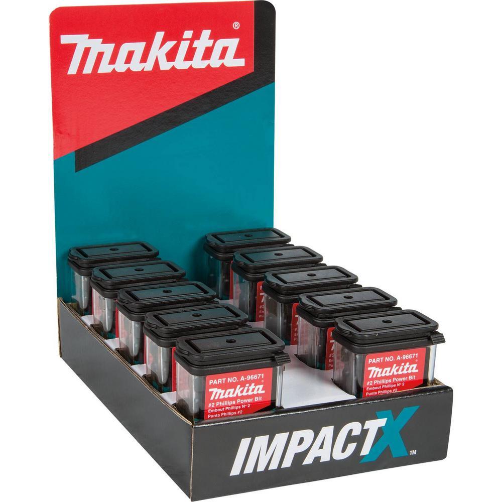 ImpactX #2 Phillips 2 in. Modified S2 Steel Power Bit (10 x 15-Pack)