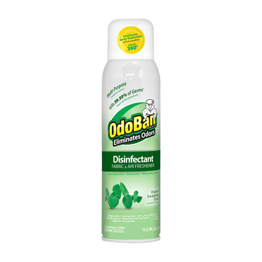 OdoBan 14.6 oz. Eucalyptus Disinfectant, Fabric and Air Freshener, Mold and Mildew Control, Multi-Purpose Continuous Spray