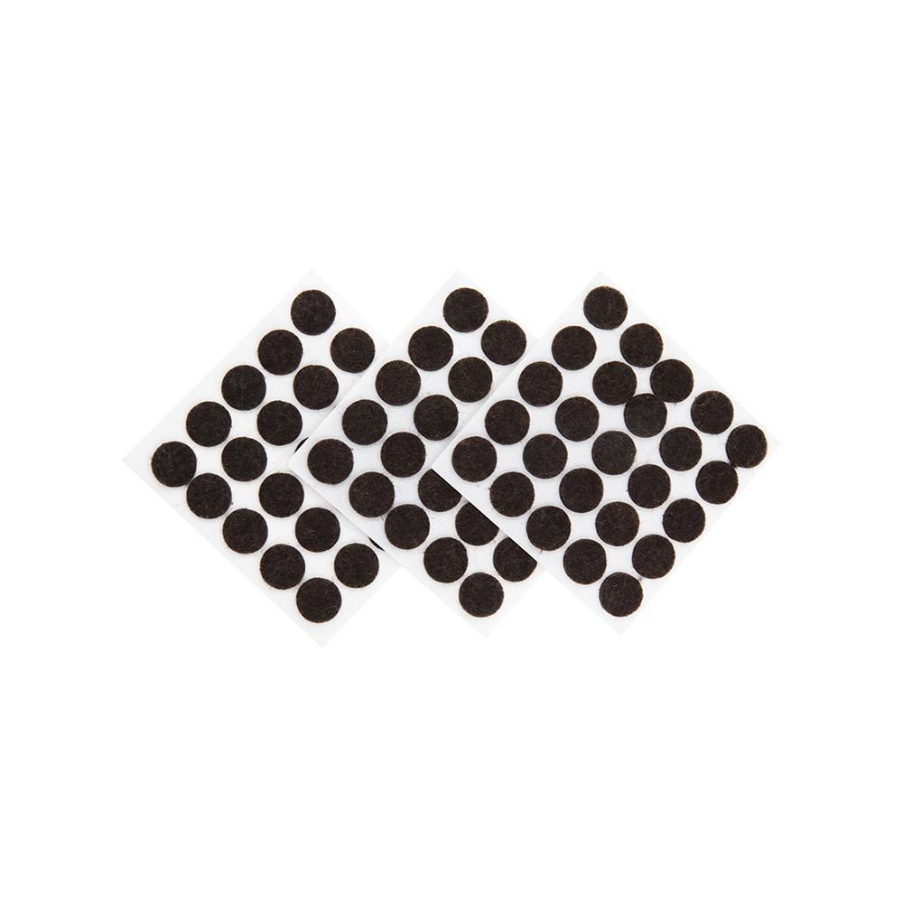3 8 In Brown Medium Duty Self Adhesive Felt Pad 75 Pack