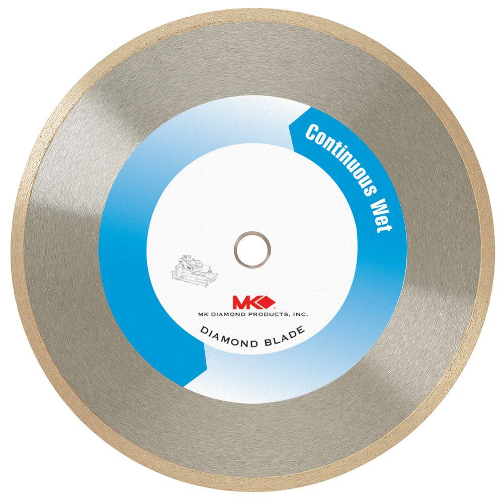 Mk Diamond 7 In Wet Cutting Continuous Rim Blade For Tile And Marble