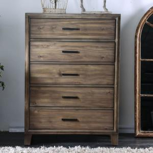 Enrico I 5 Drawers Light Oak Contemporary Style Chest