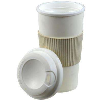 16 oz. White Thermal Travel Coffee Mug