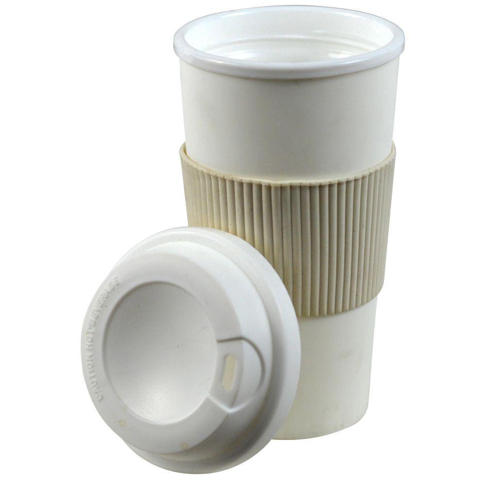 16 oz. White Thermal Travel Coffee Mug