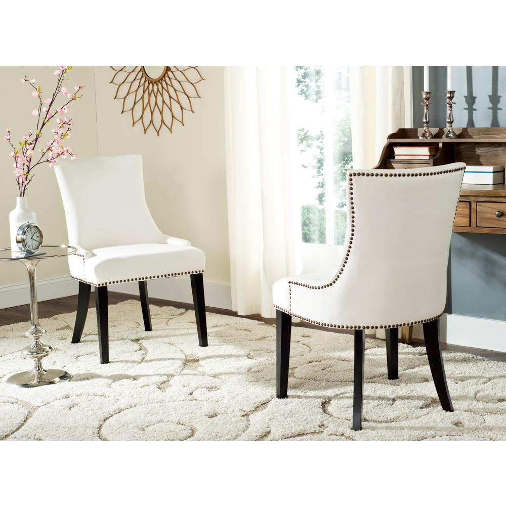 safavieh lester white espresso 19 in h dining chair set of 2 mcr4709m set2 the home depot. Black Bedroom Furniture Sets. Home Design Ideas