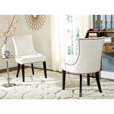 Lester White/Espresso 19 in. H Dining Chair (Set of 2)