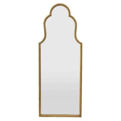 12 in. x 1 in. Gold Frame Metal Wall Mirror