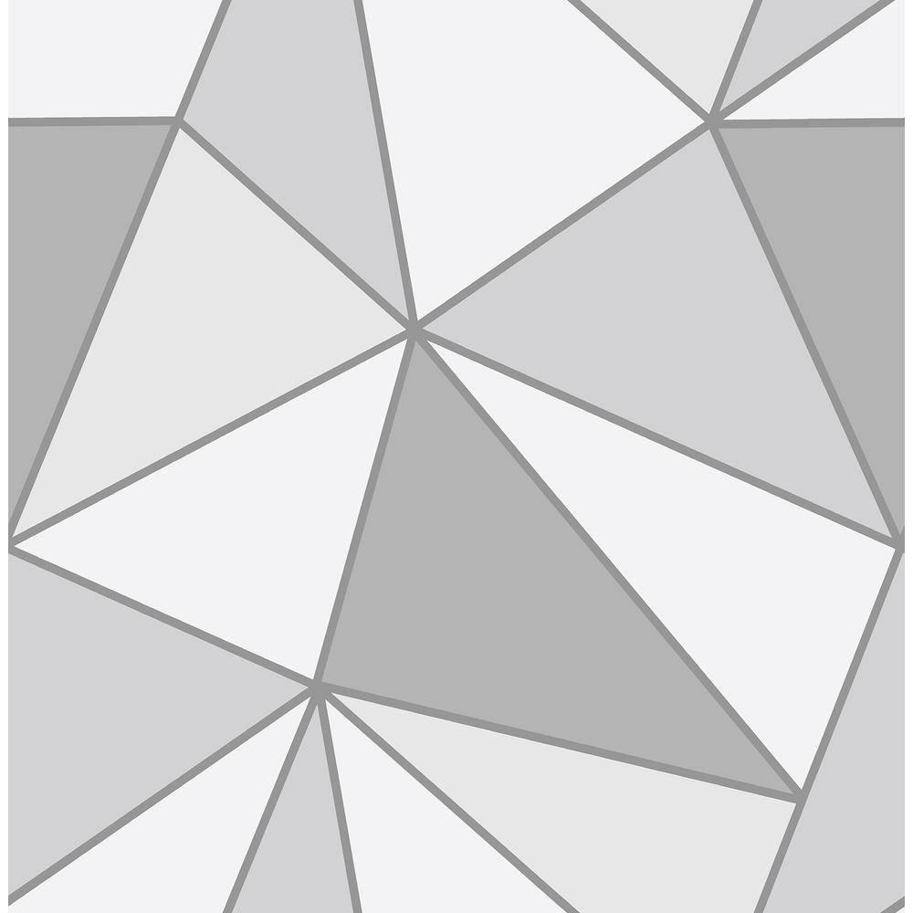 Advantage Apex Grey Geometric Wallpaper Sample-2814 ...
