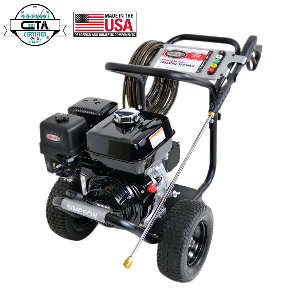 Simpson SIMPSON PowerShot PS3835 3800 PSI at 3.5 GPM HONDA GX270 Cold Water Pressure Washer