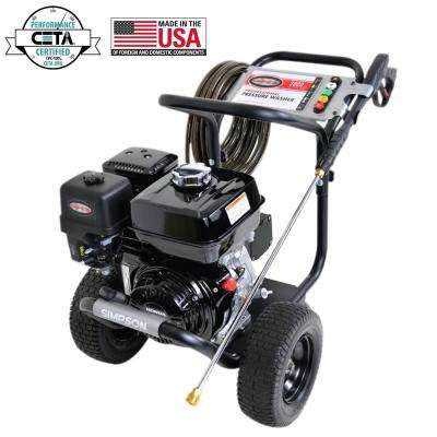 PowerShot 3800 PSI at 3.5 GPM HONDA GX270 with AAA Industrial Triplex Pump Cold Water Professional Gas Pressure Washer