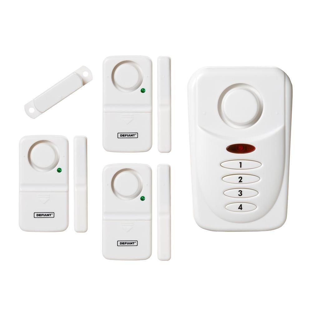 Defiant Wireless Home Security Door Window Alarm Kit Thd
