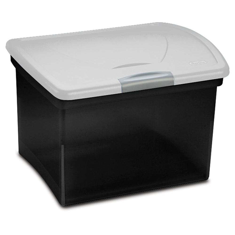 Sterilite Showoffs 35 Qt File Box 18789004 The Home Depot