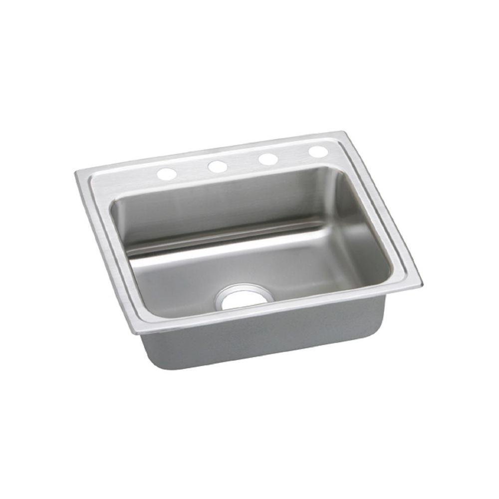 pacemaker drop in stainless steel 25 in  4 hole single bowl kitchen sink elkay dayton drop in stainless steel 25 in  3 hole single bowl      rh   homedepot com