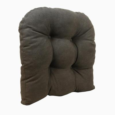 Gripper Non-Slip 17 in. x 17 in. Twillo Chocolate Tufted Universal Chair Cushions