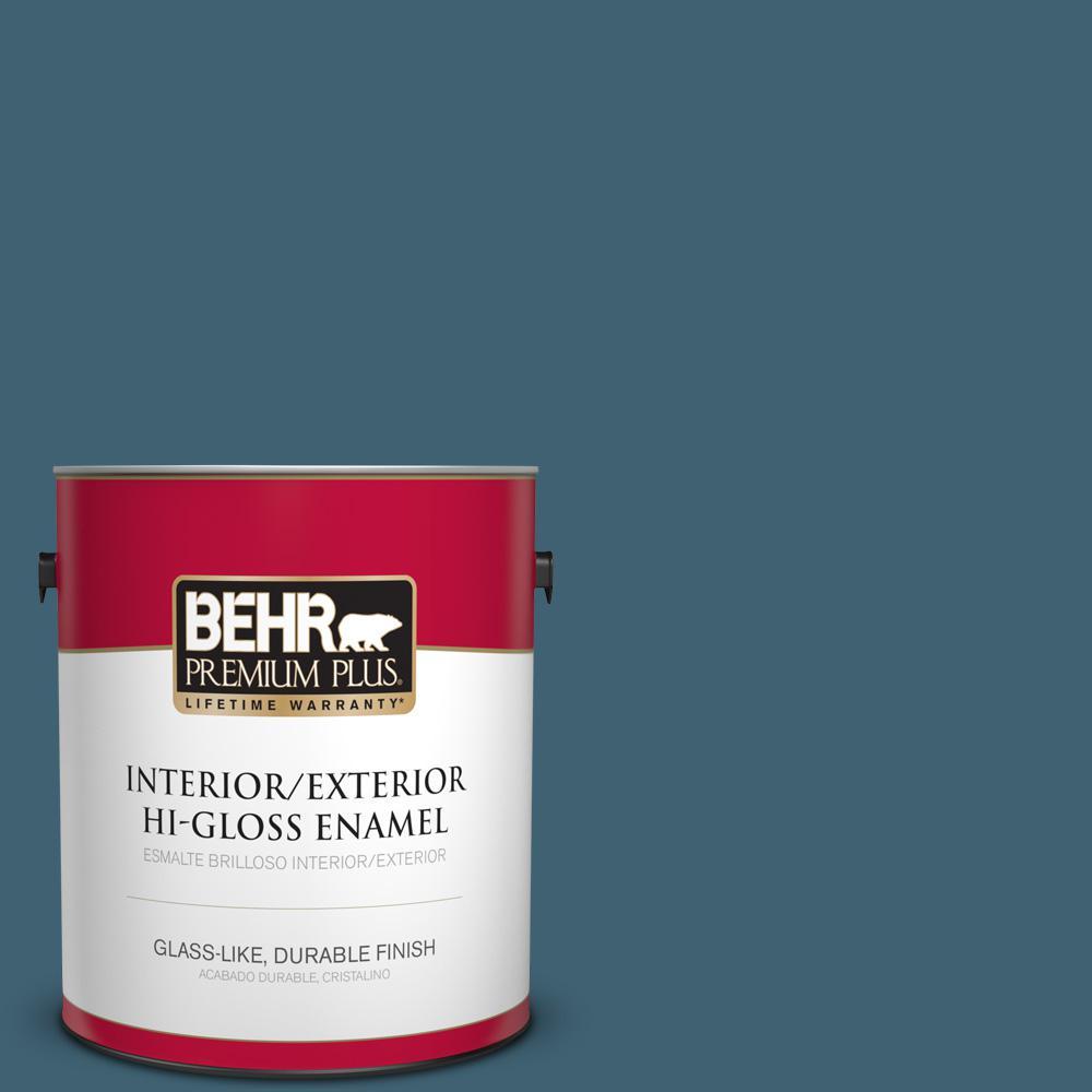 1 gal. #PPU13-18 Bermudan Blue Hi-Gloss Enamel Interior/Exterior Paint