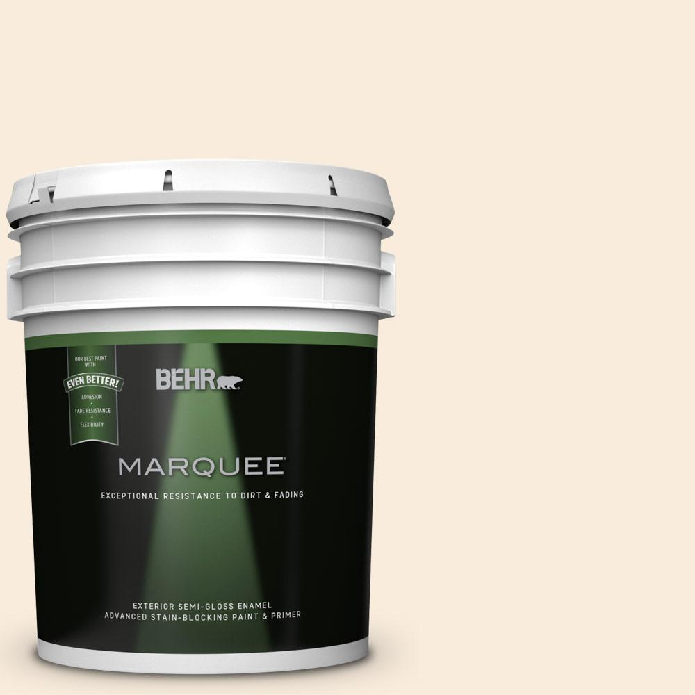 Behr Marquee 5 Gal 70 Linen White Semi Gloss Exterior Paint 545005 The Home Depot