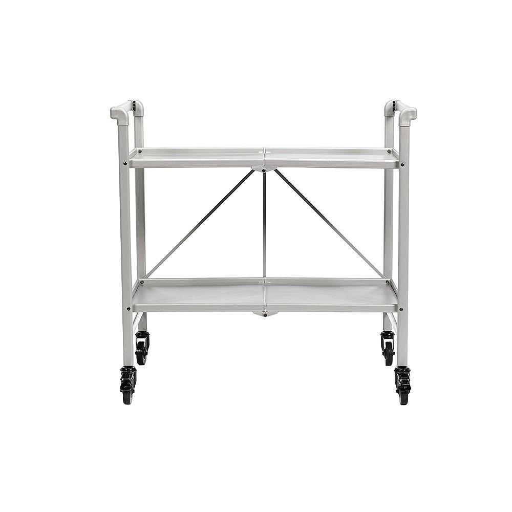 Smartfold Silver Serving Cart