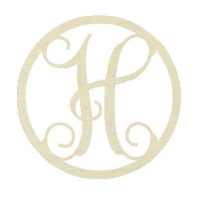 19 in. Unfinished Single Circle Monogram (H)