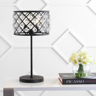 Gabrielle 22.5 in. Oil Rubbed Bronze Metal/Crystal LED Table Lamp