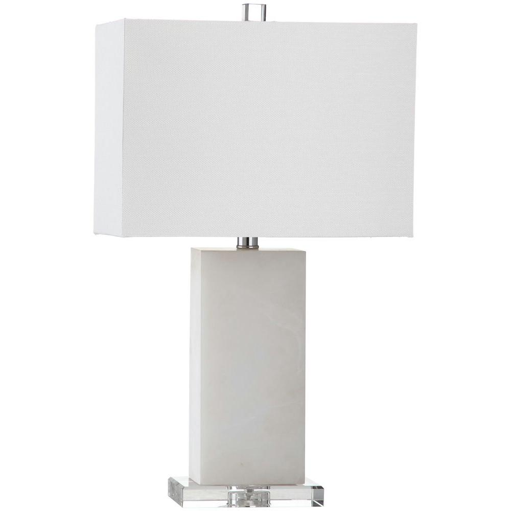 Superbe Marble Table Lamp With Off White Shade