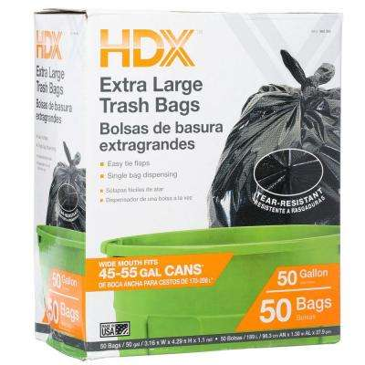 50 Gal. Wave Cut Extra Large Trash Bags (50-Count)