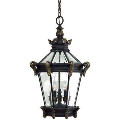 Stratford Hall 5-Light Heritage with Gold Highlights Hanging Fixture