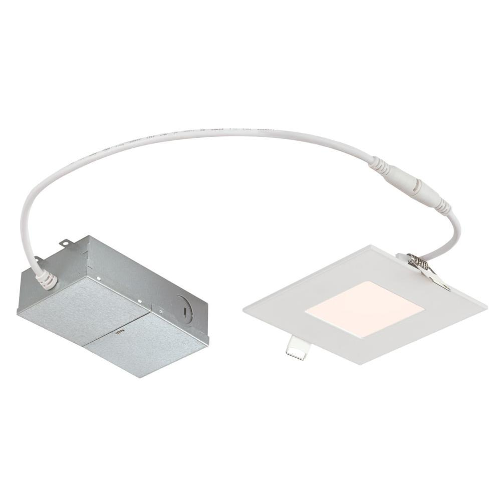 Westinghouse Slim Square 4 In 4000k Cool White New Construction Remodel Ic Rated Recessed Integrated Led Kit