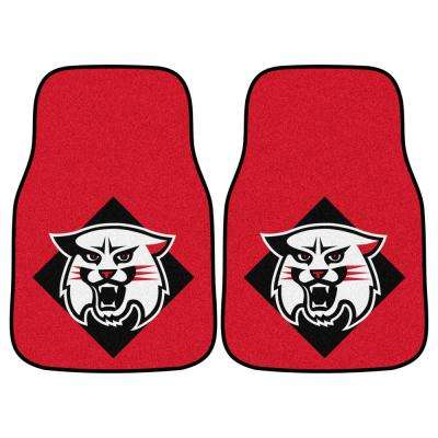 NCAA Davidson College 17 in. x 27 in. 2-Piece set of Carpet Car Mats
